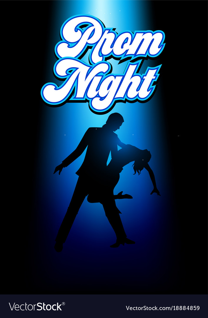 Silhouette of a couple dancing vector image