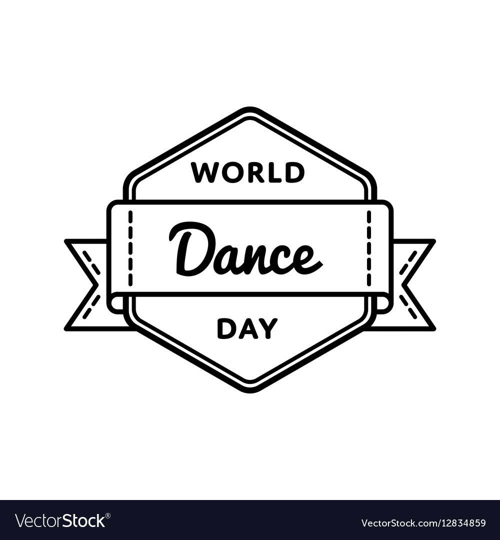 World Dance day greeting emblem vector image