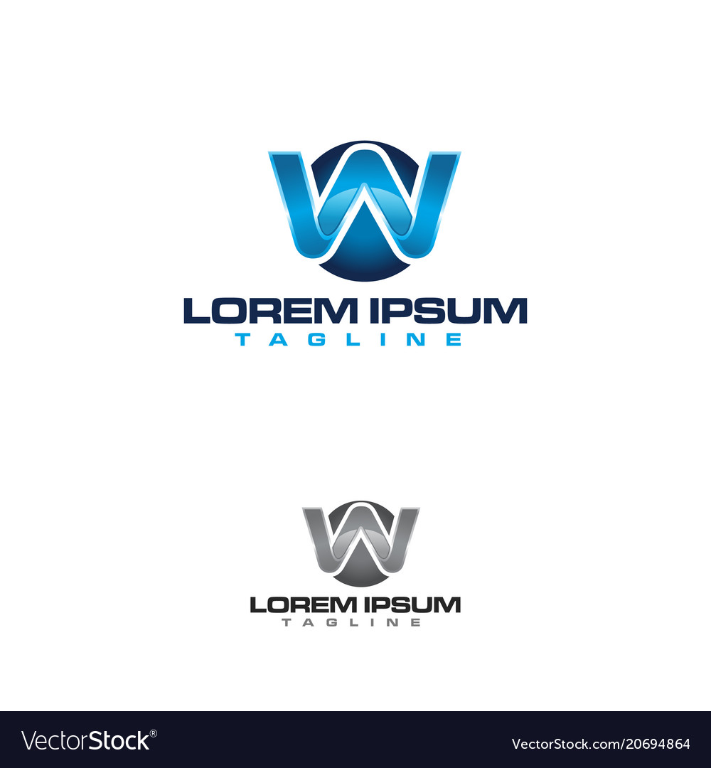 Abstract letter w business company logo