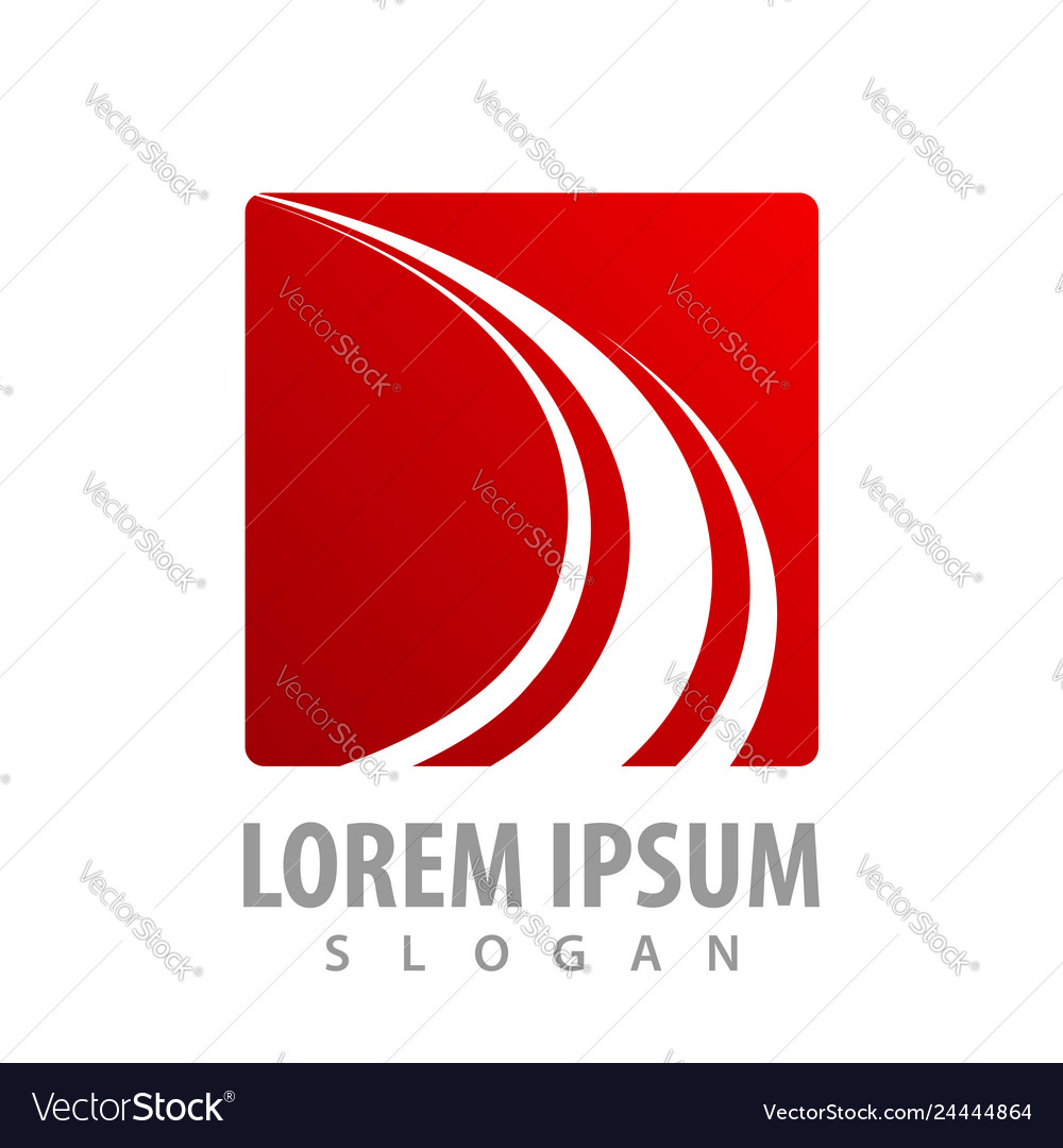 Abstract red square business finance concept