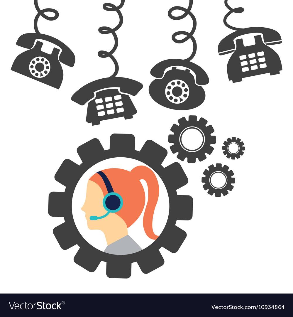 Call center service icons