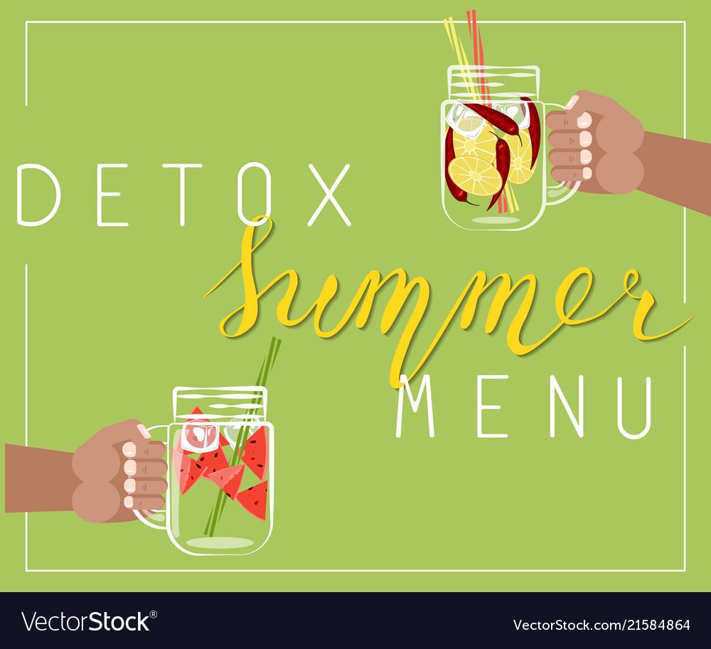 Detox summer menu