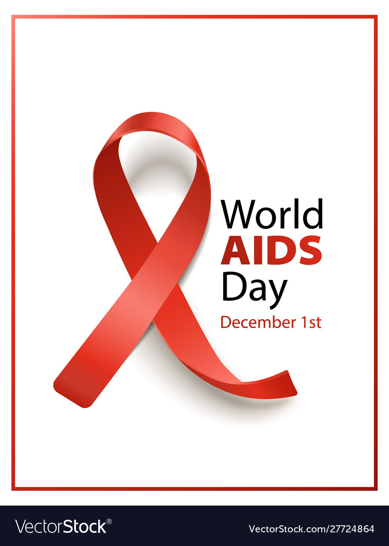 Words aids day - december 1st isolated banner