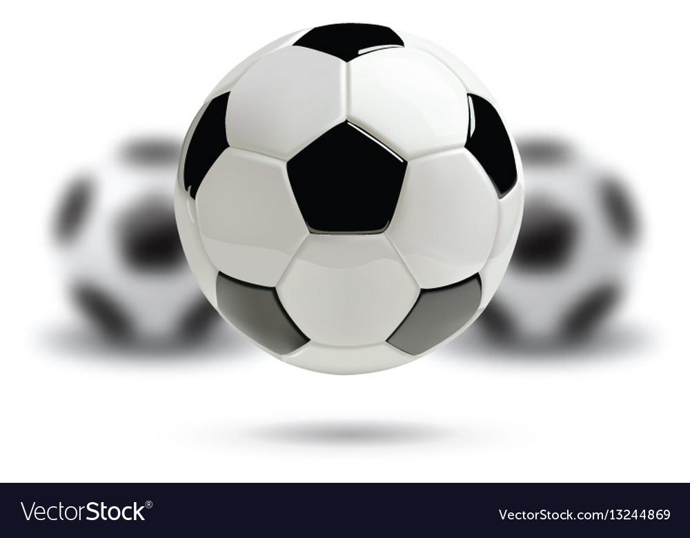 3d football or soccer ball on white background Vector Image d53bb675de0cd