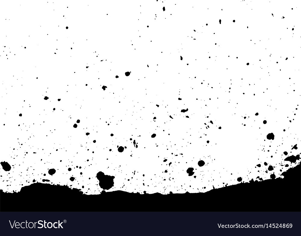 Abstract splatter black color background vector image