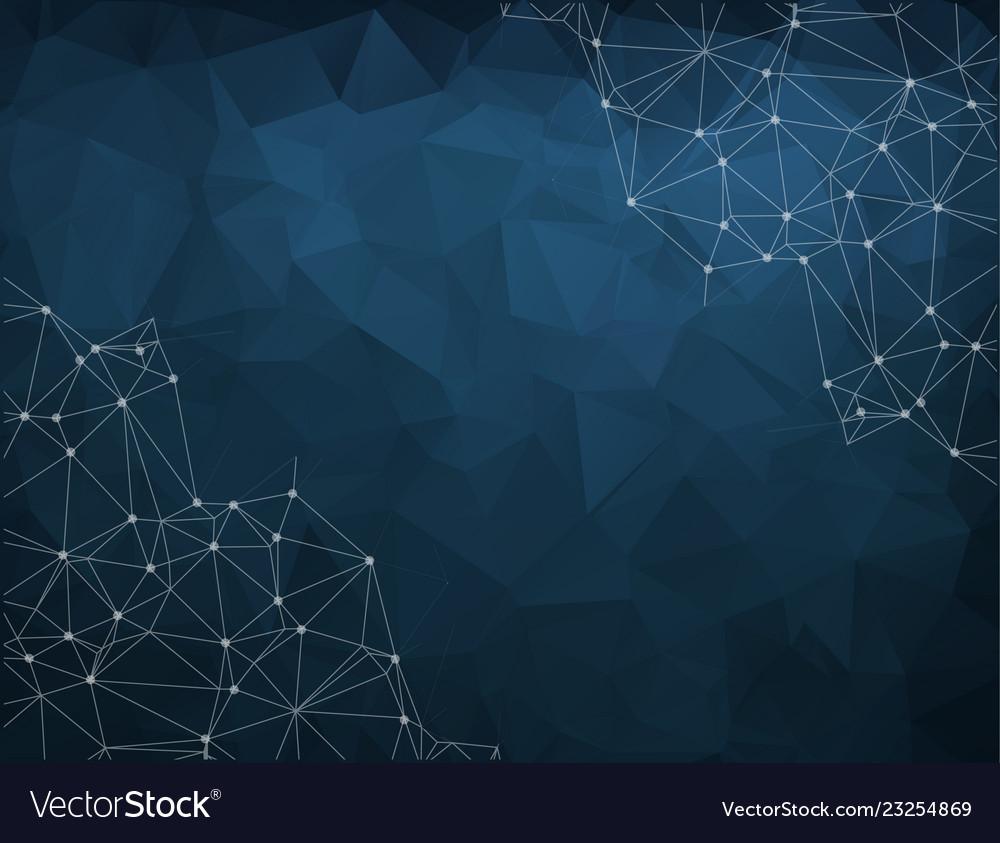 Blue polygon pattern hexagon background triangle
