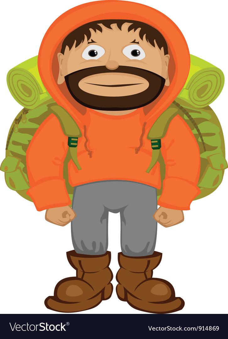 Cartoon tourist vector image