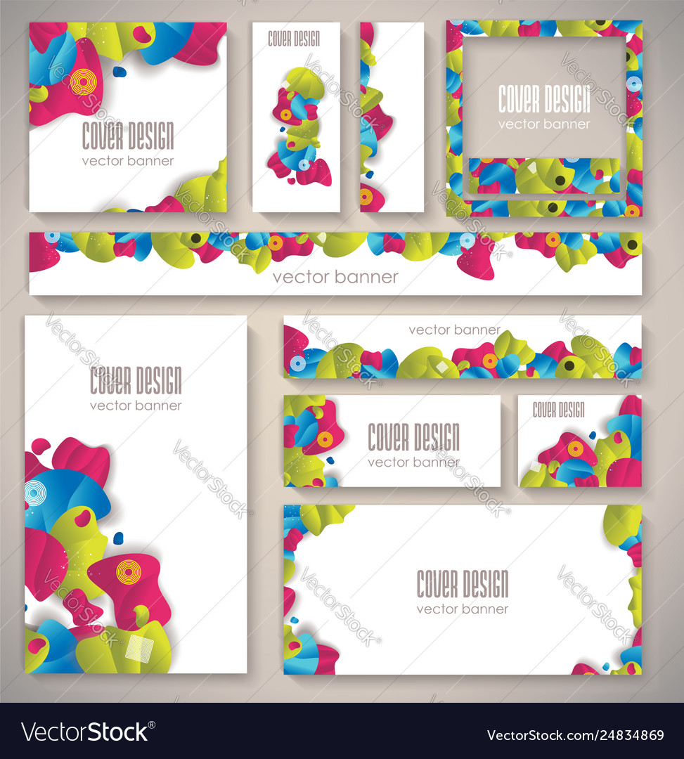 Corporate identity business set design with