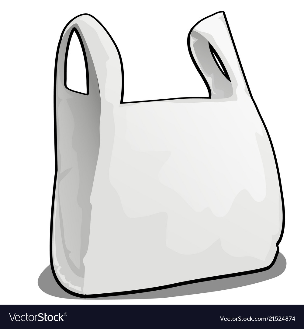 A plastic bag of white color isolated on white