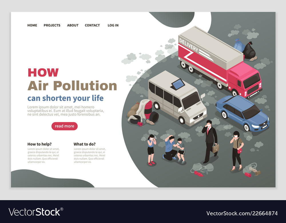Air pollution page design