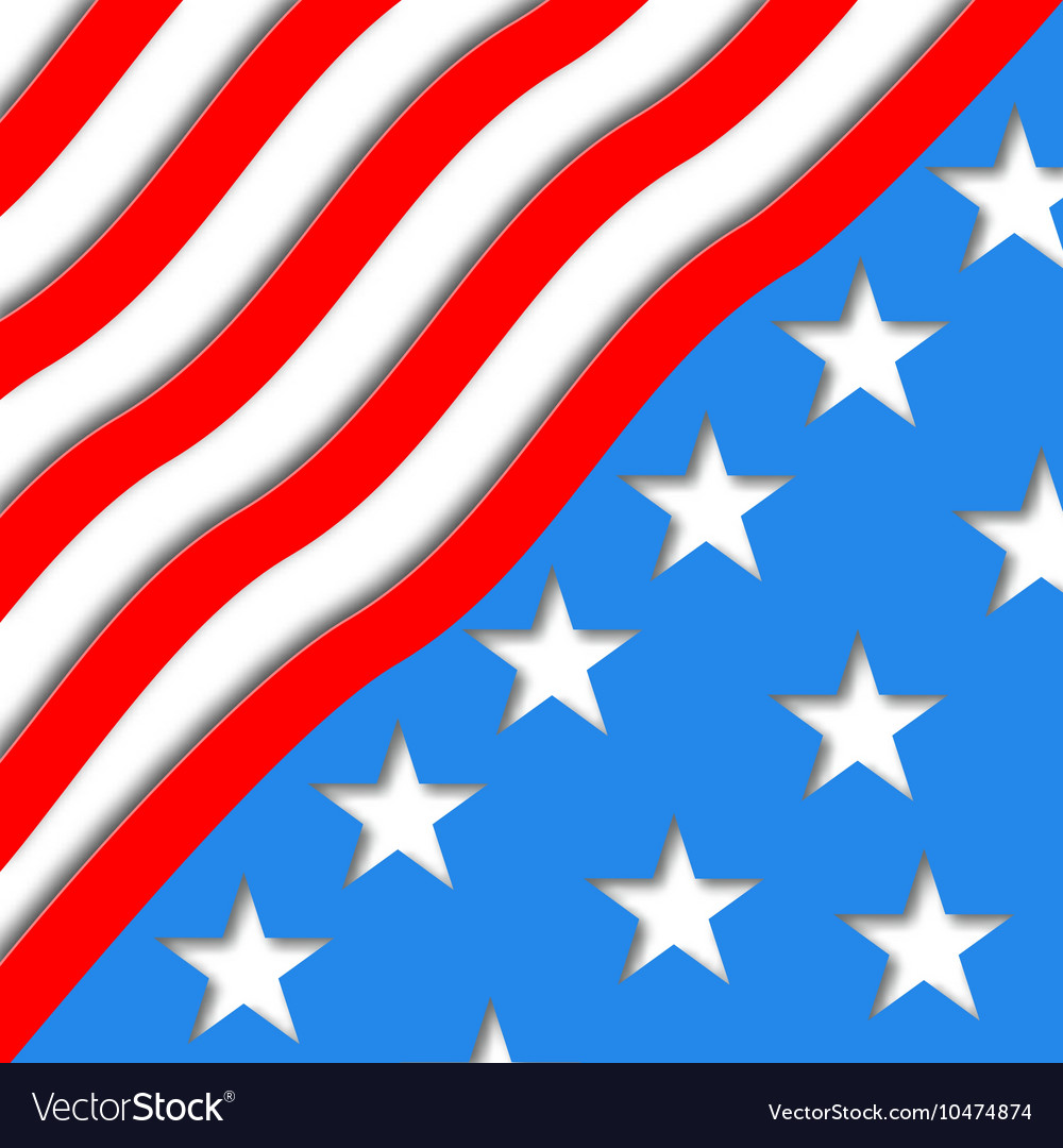 Art American Flag for Independence vector image