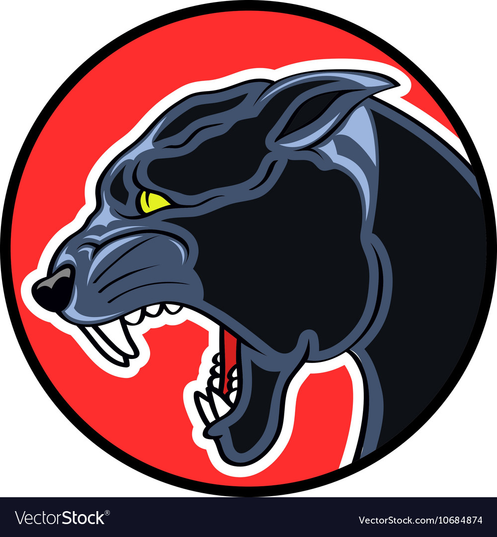 Circle Badge Panther vector image