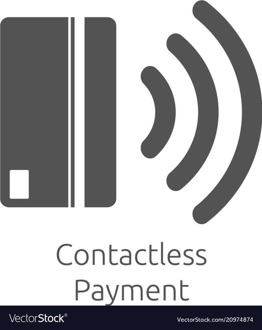 Contactless payment icon near-field communication