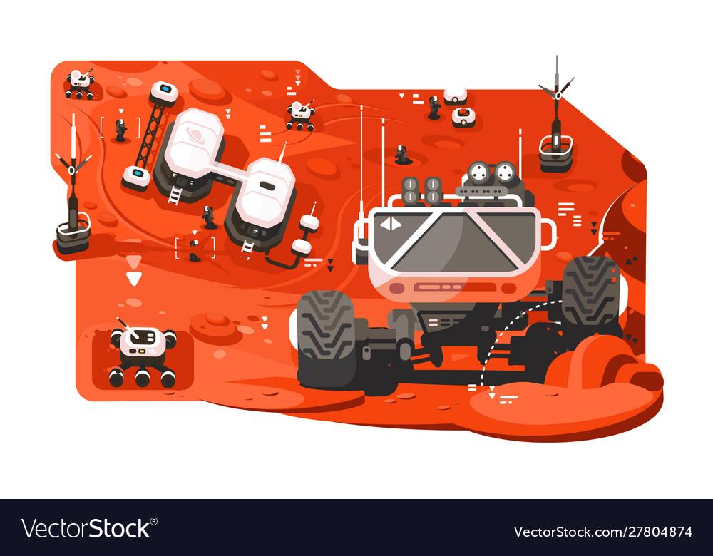 Futuristic mars rover
