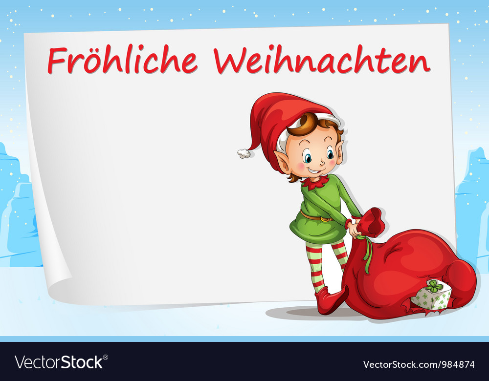 German Christmas Greeting