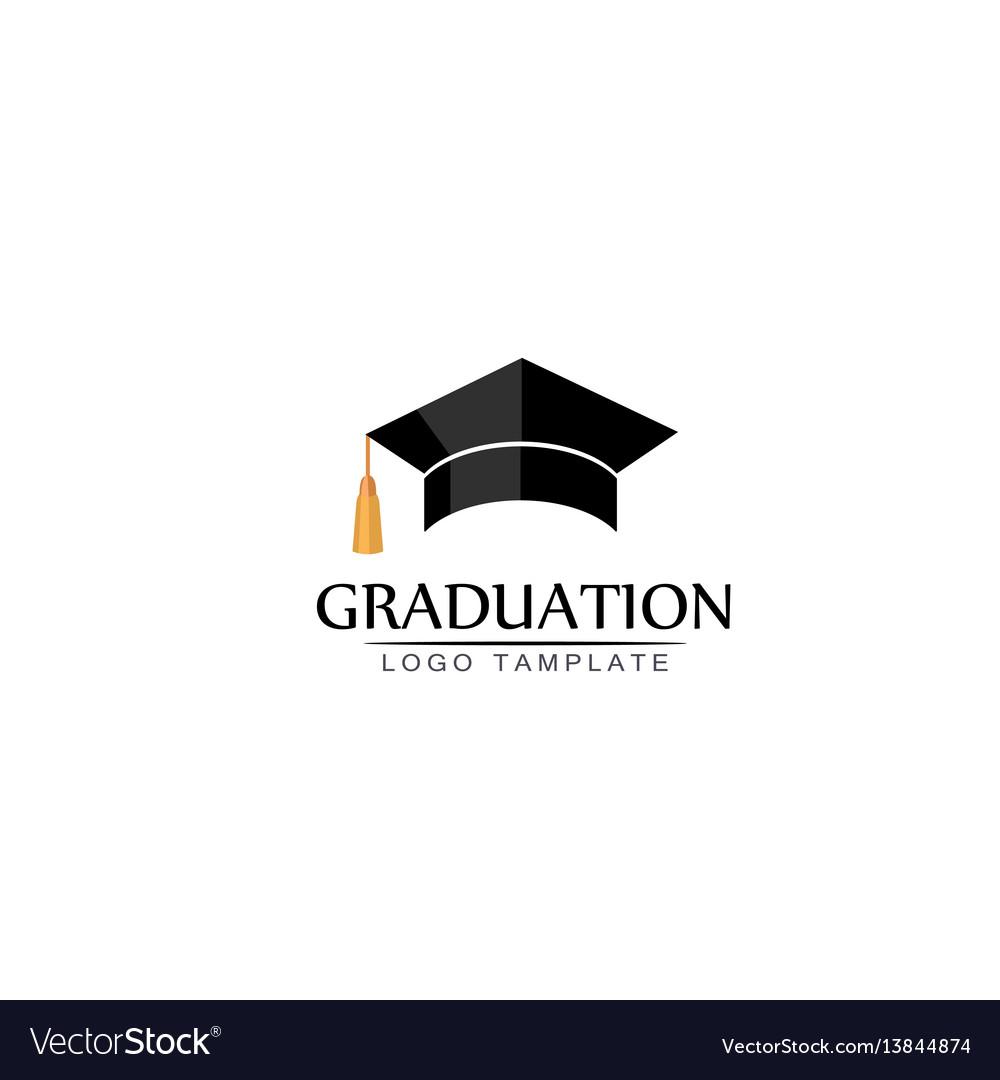 Graduation cap logo or icon isolated