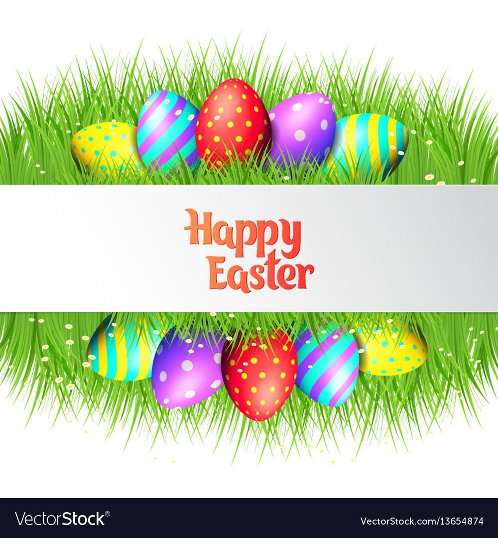 Happy easter eggs frame