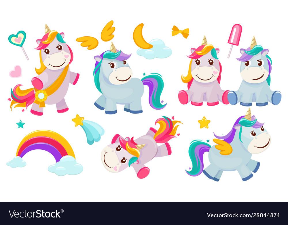 Magic unicorns balittle fairytale animals pony