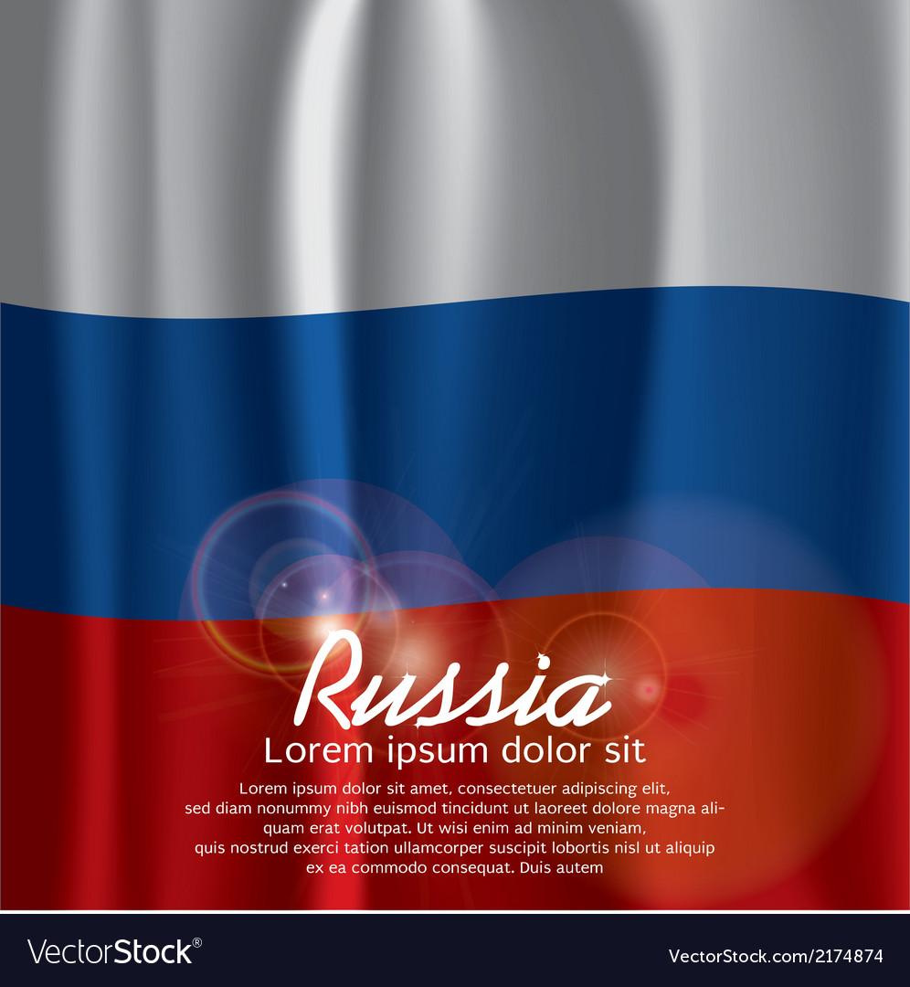 Russia Flag Curtain