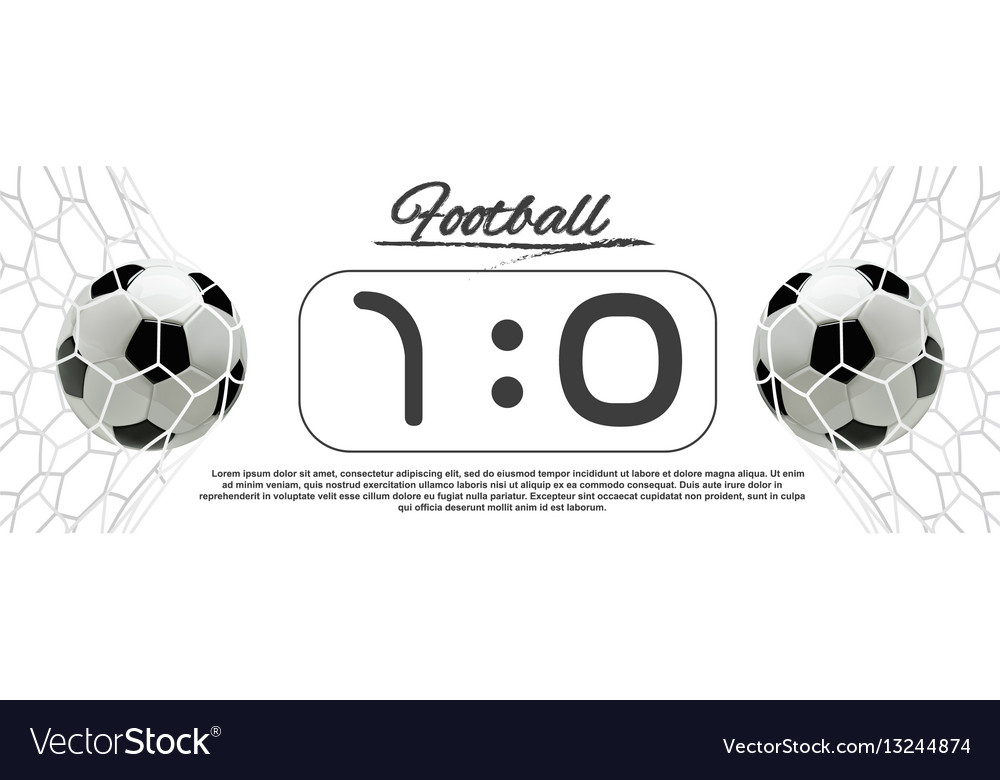 Soccer or football ball with scoreboard