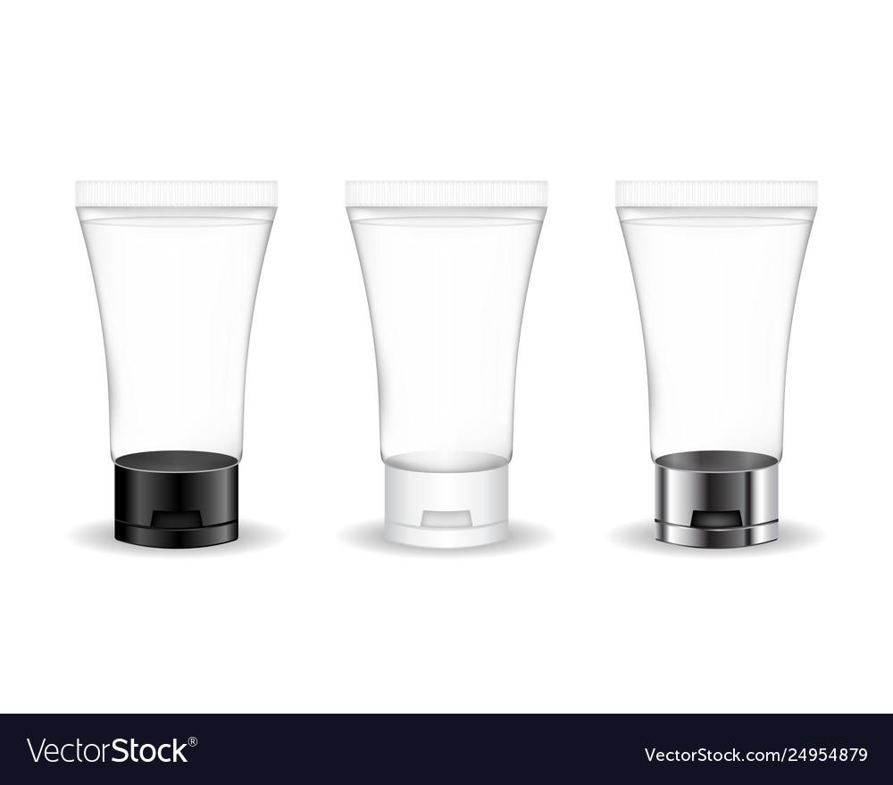 Cosmetic transparent tube for cream gel foam