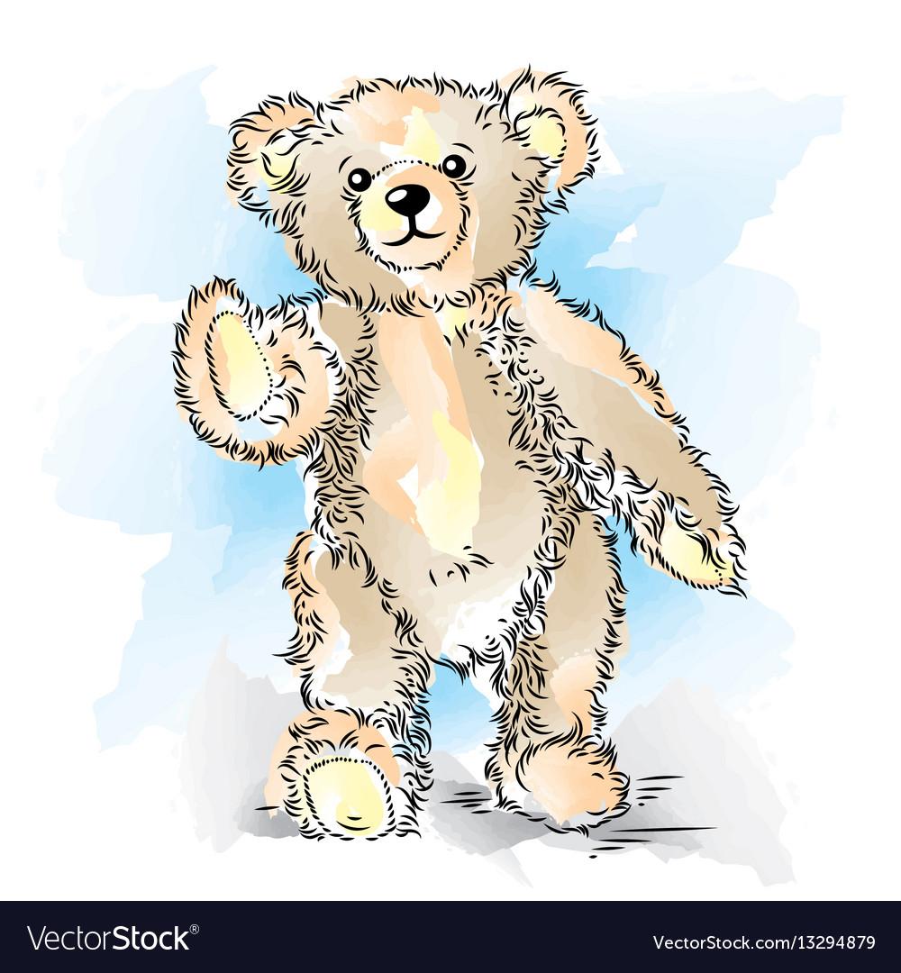 Drawing teddy bear color