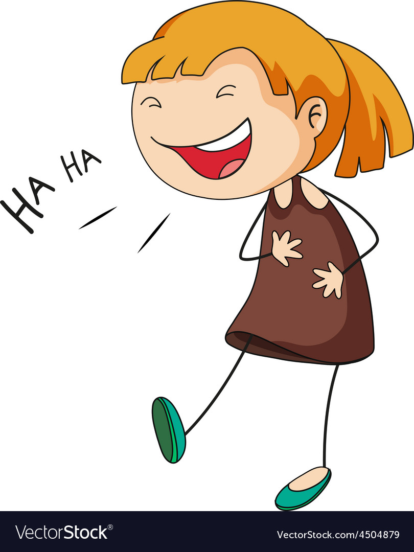 girl laughing royalty free vector image vectorstock