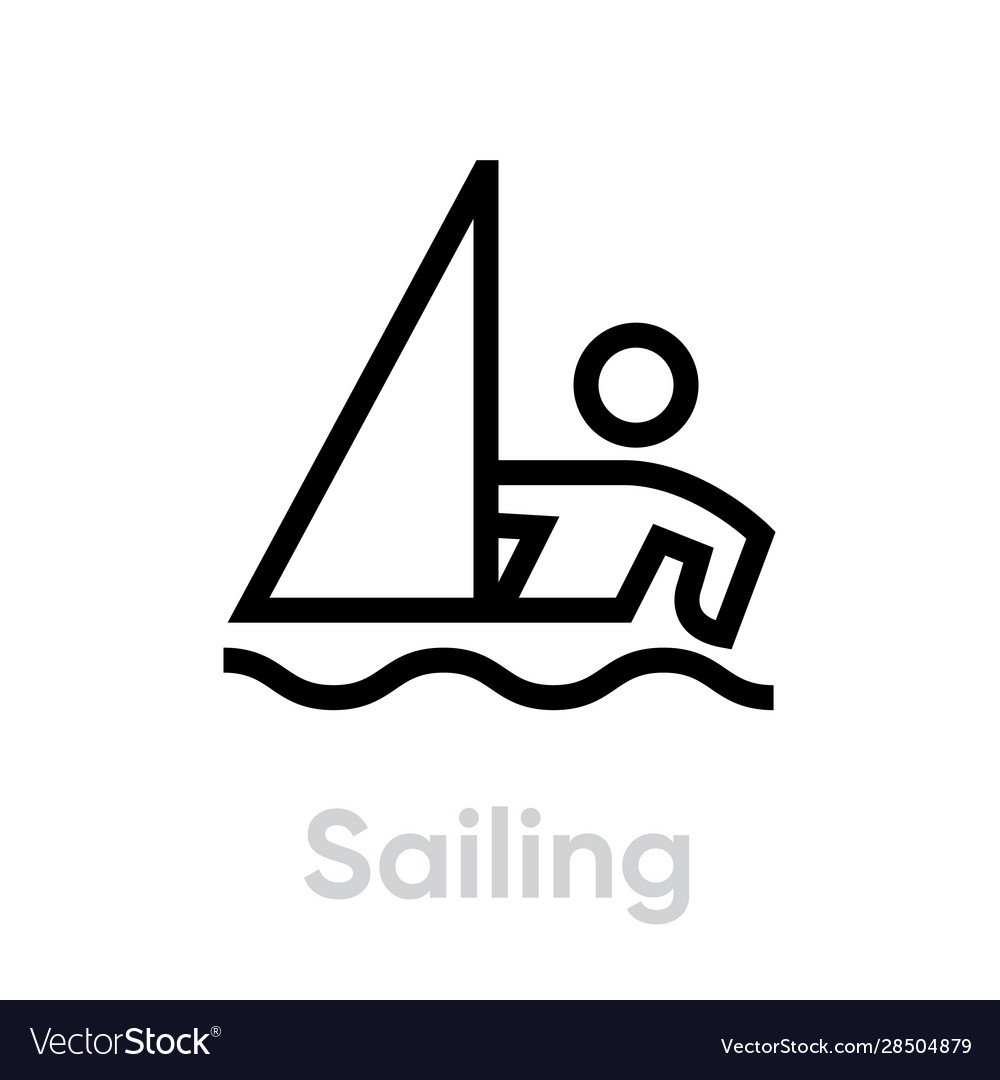 Sailing sport icons