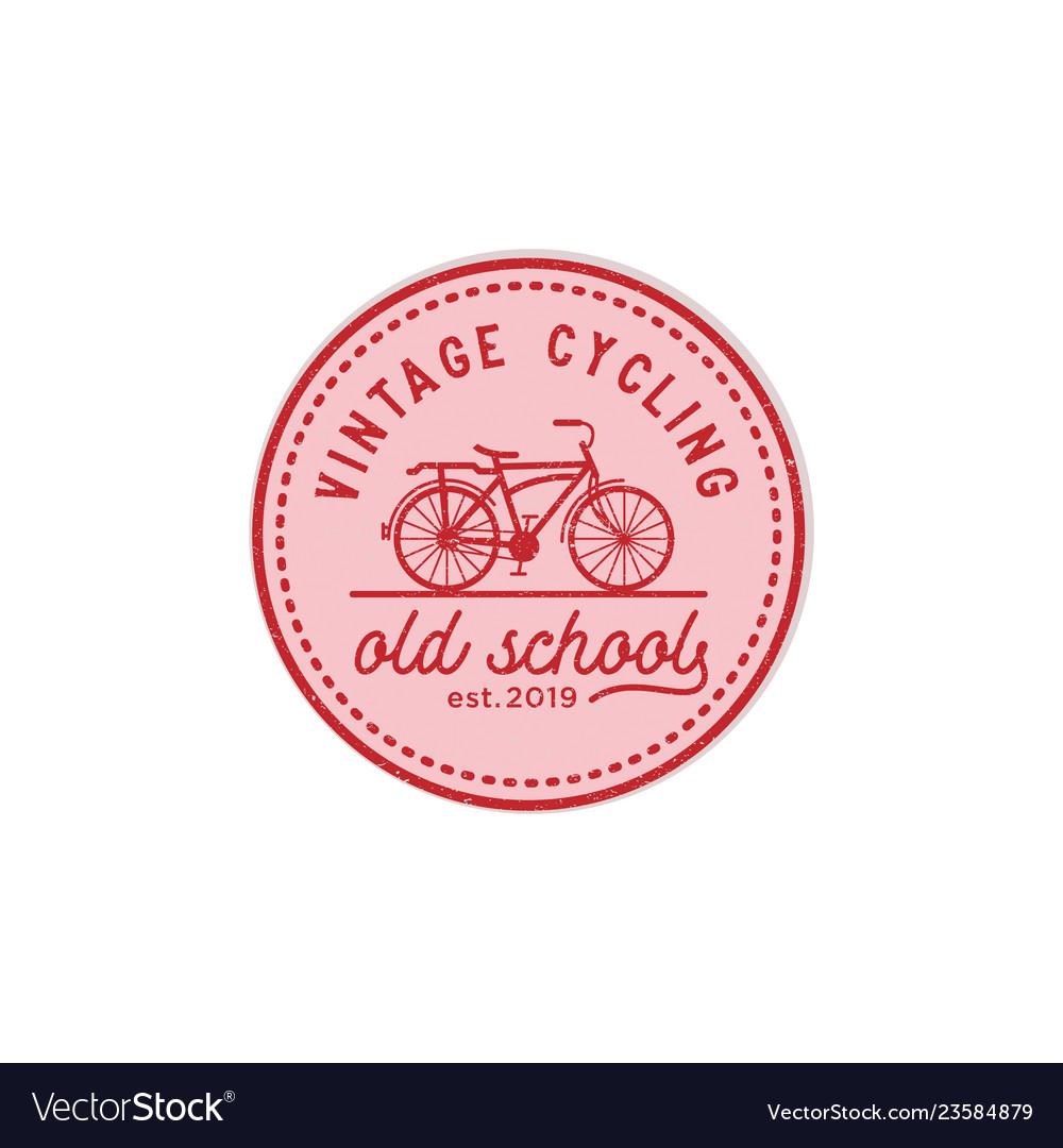 Vintage cycling old school logo design