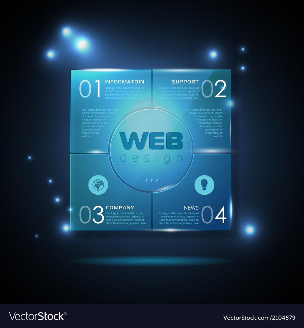 website template design technology background vector image