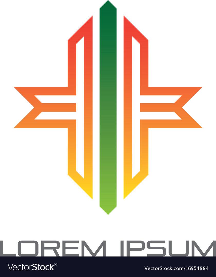 Abstract ribbon logo vector image