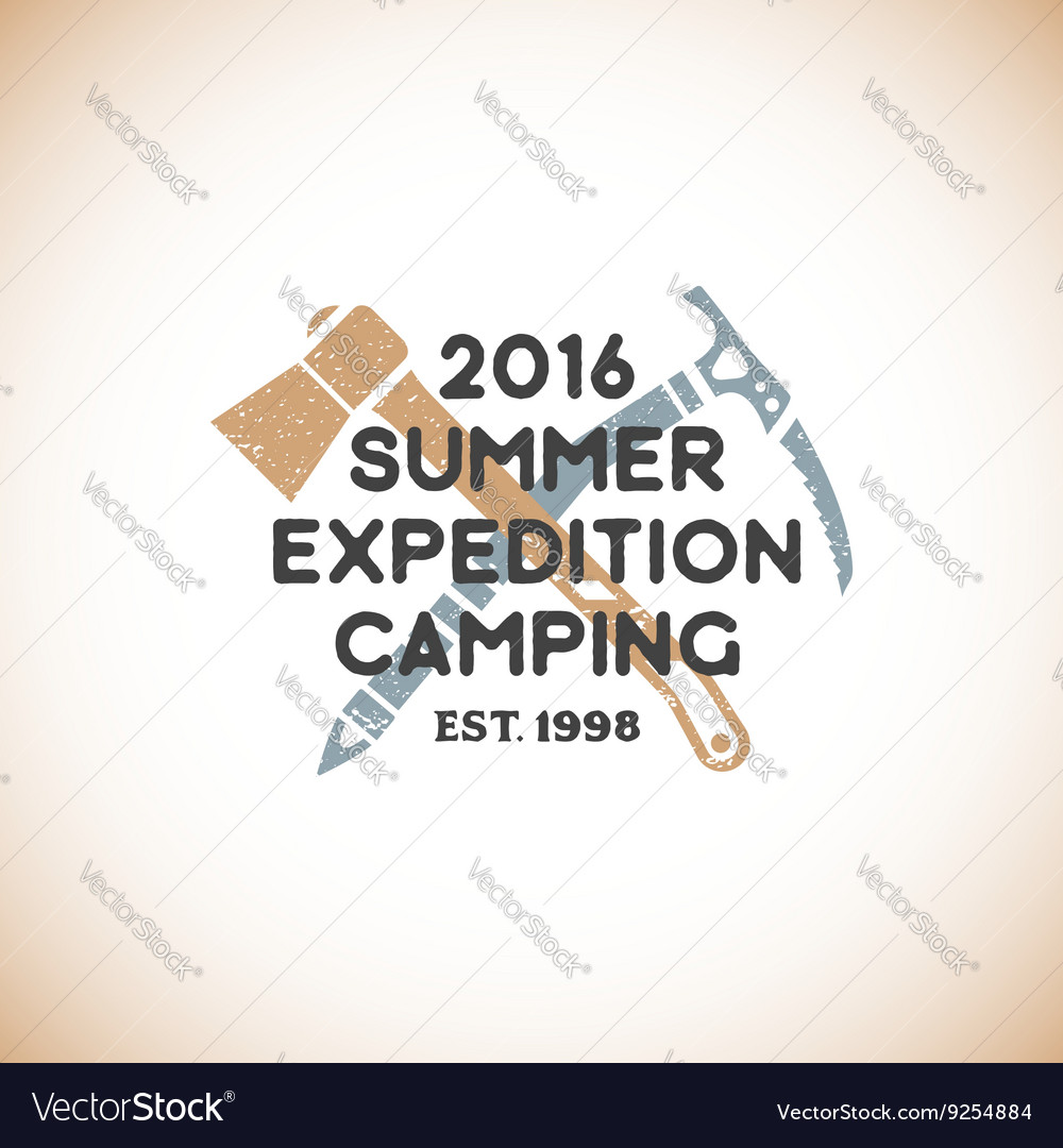 Color expedition camping sign template