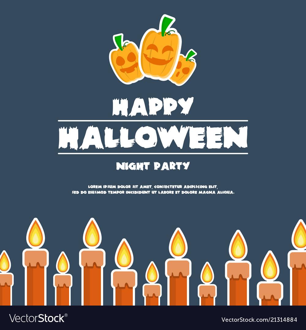 Happy halloween design banner pumpkins