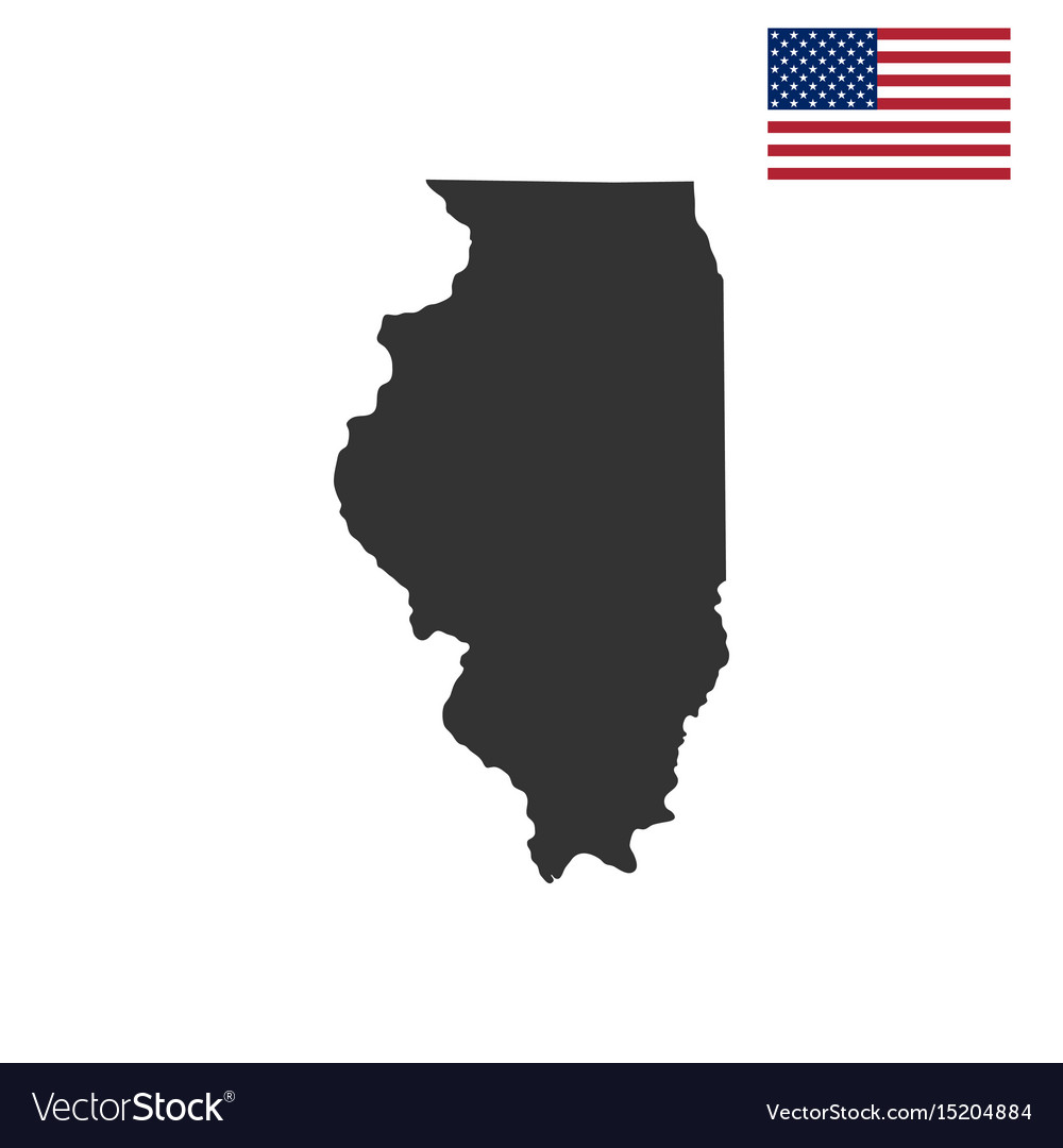 Map Of The Us State Of Illinois Royalty Free Vector Image - Illinois-on-a-map-of-the-us