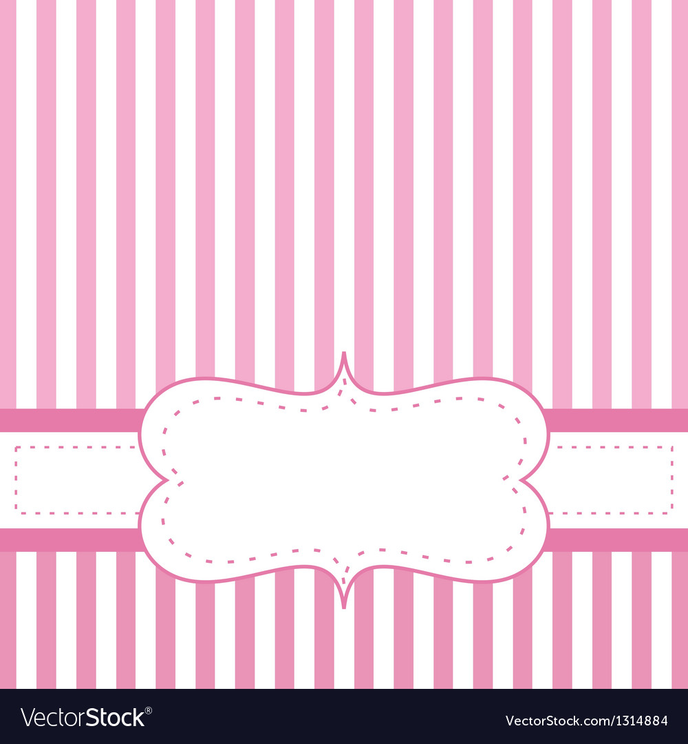 Pink card invitation for baby shower or wedding vector image stopboris Images