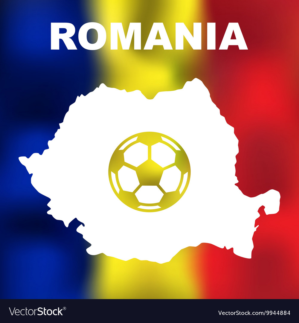 Romanian Abstract Map vector image