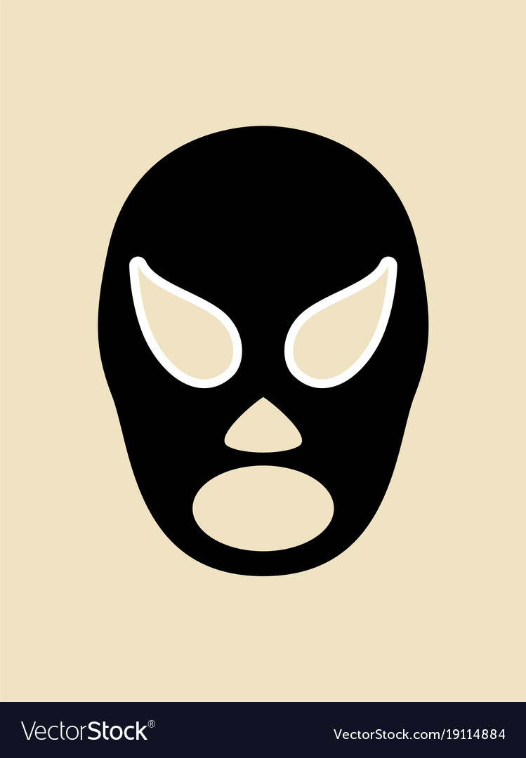 Simple graphic of a wrestler mask