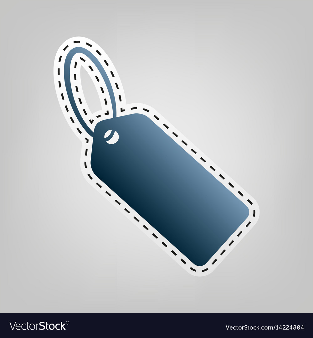Tag sign blue icon with