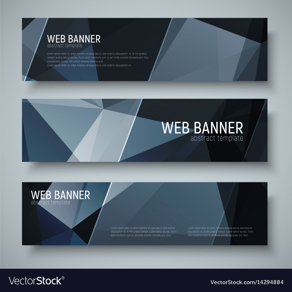 Template black banners with transparent diagonal vector image