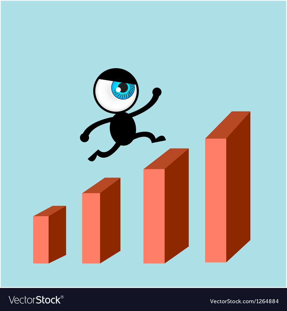 The blue eye run on bars graph