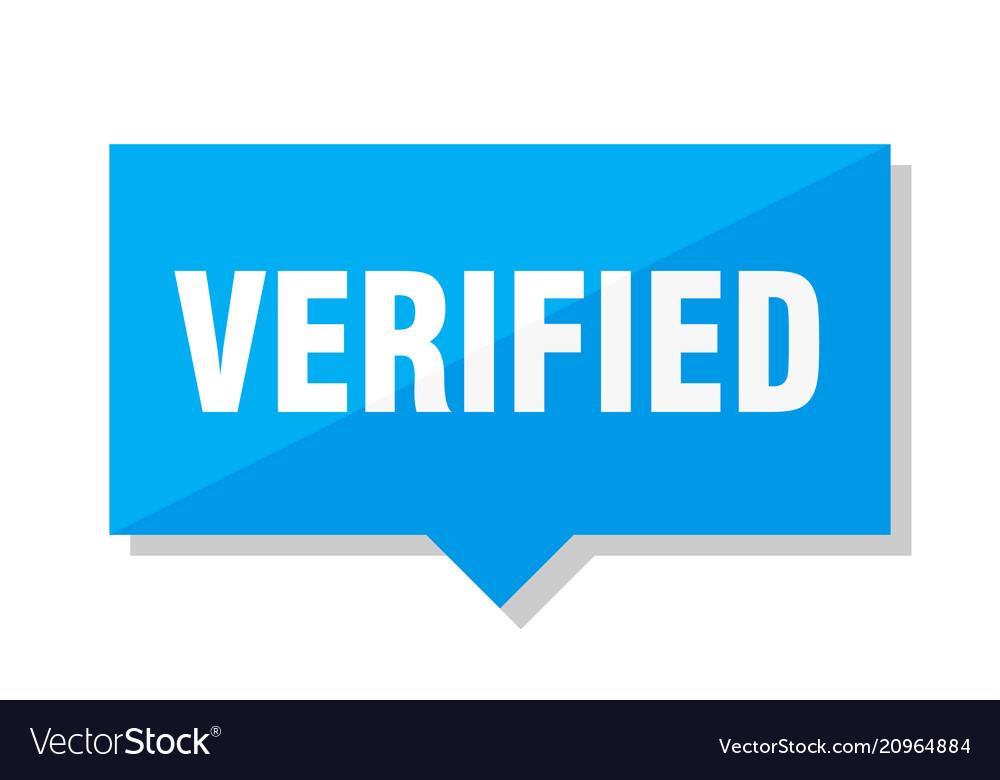 Verified price tag vector image