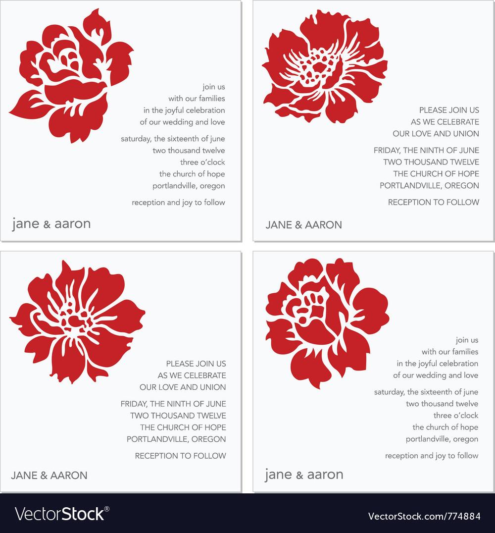 Wedding invites Royalty Free Vector Image - VectorStock