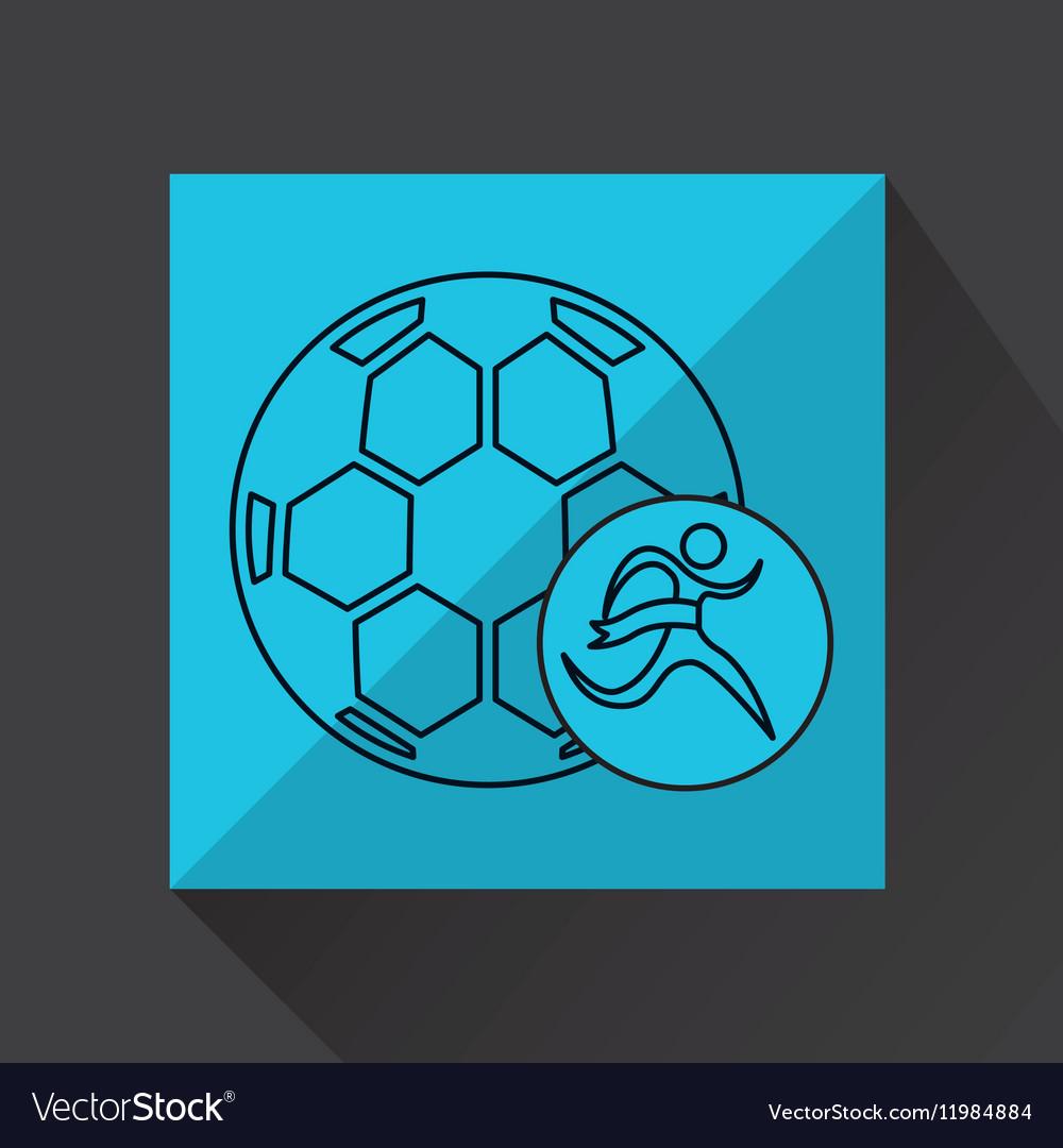 Winner silhouette sport soccer icon