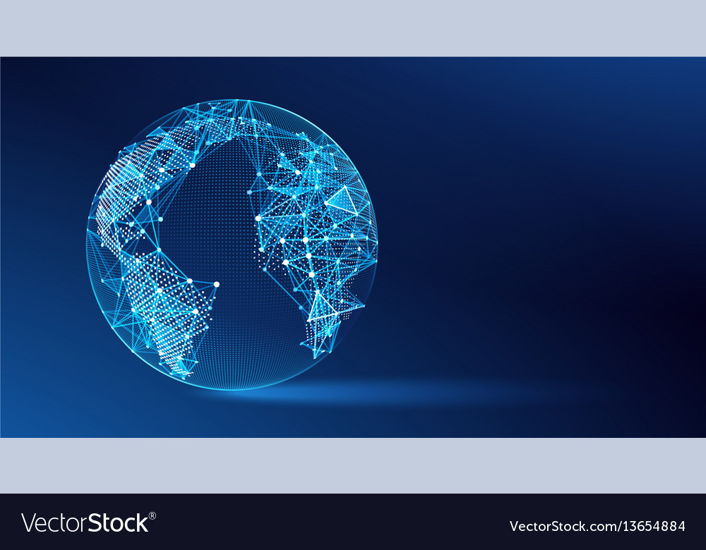 World map point vector image