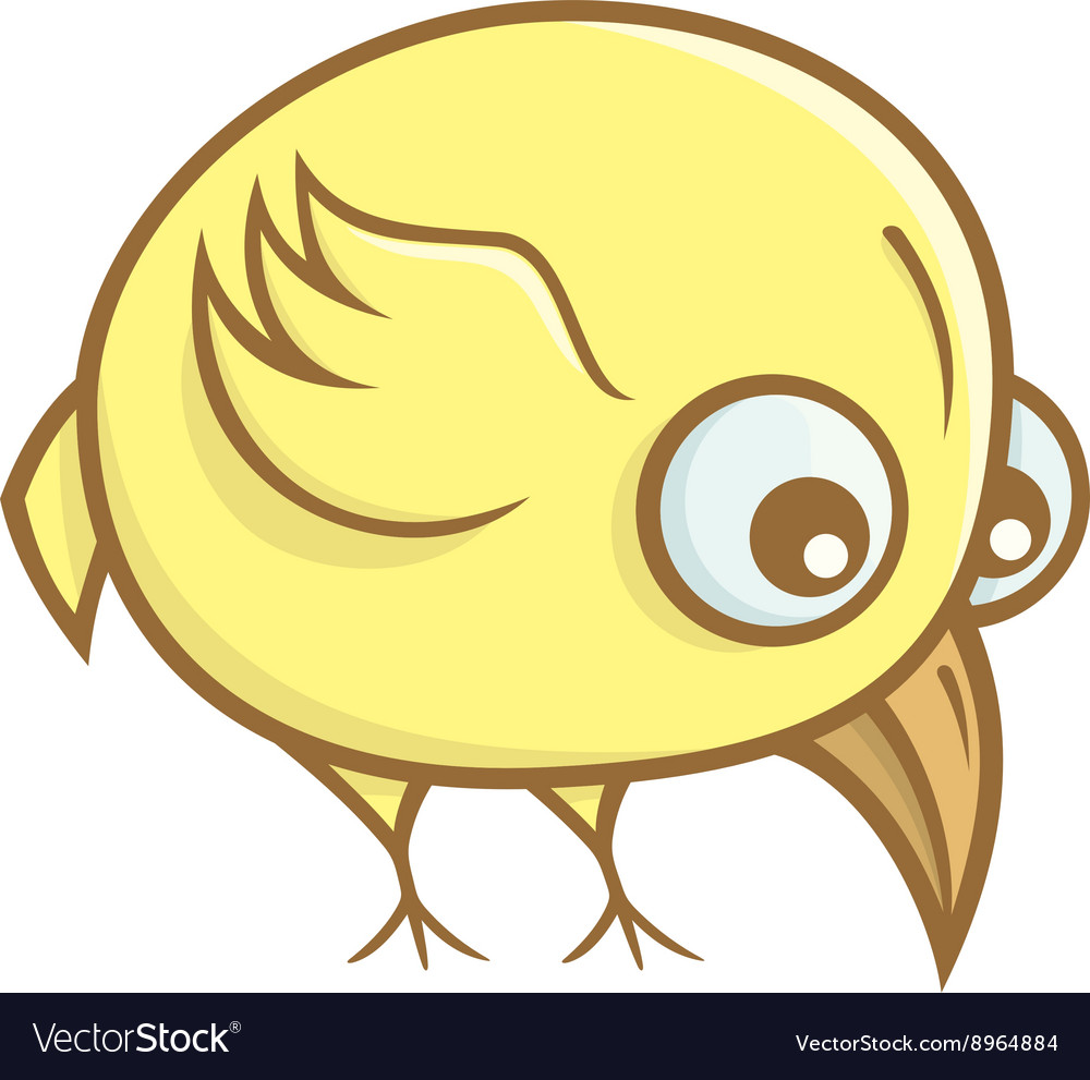 Yellow bird cartoon
