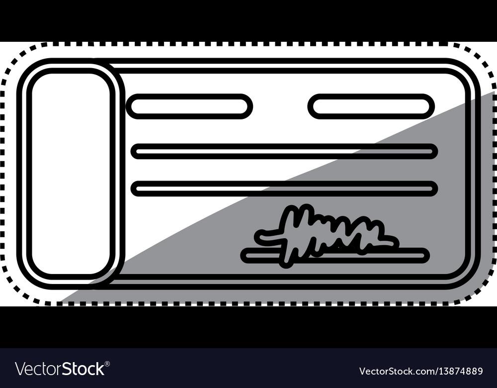 Bank check money vector image
