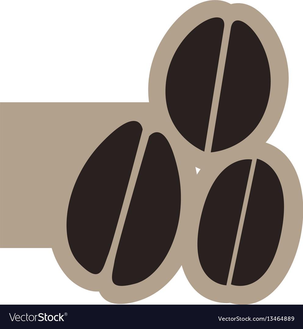 Black contour grains coffee icon vector image