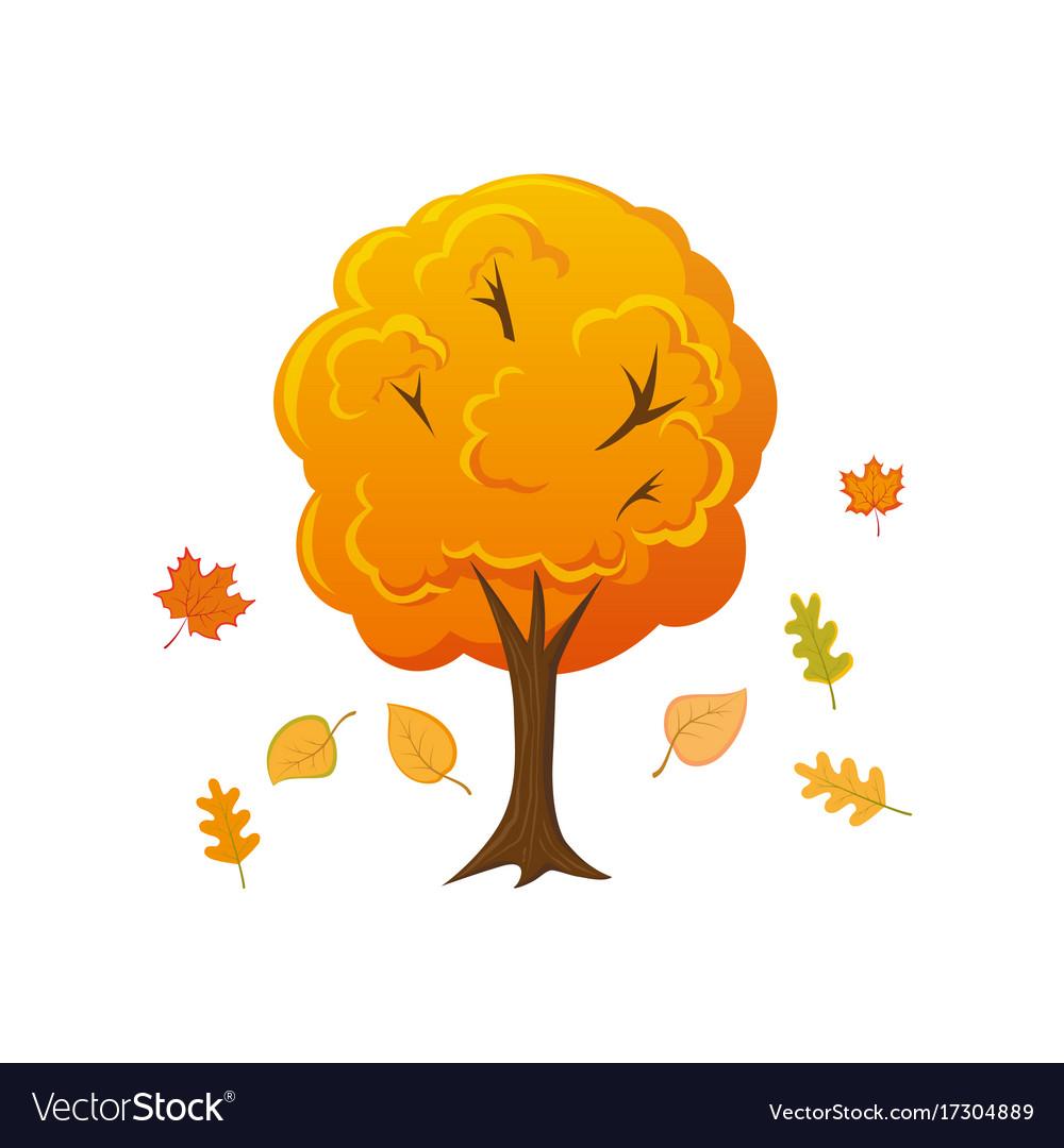 Fall tree cartoon images — img 1