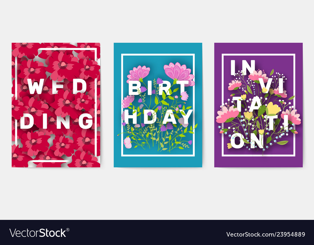 Flower theme for the design of gift flyers the