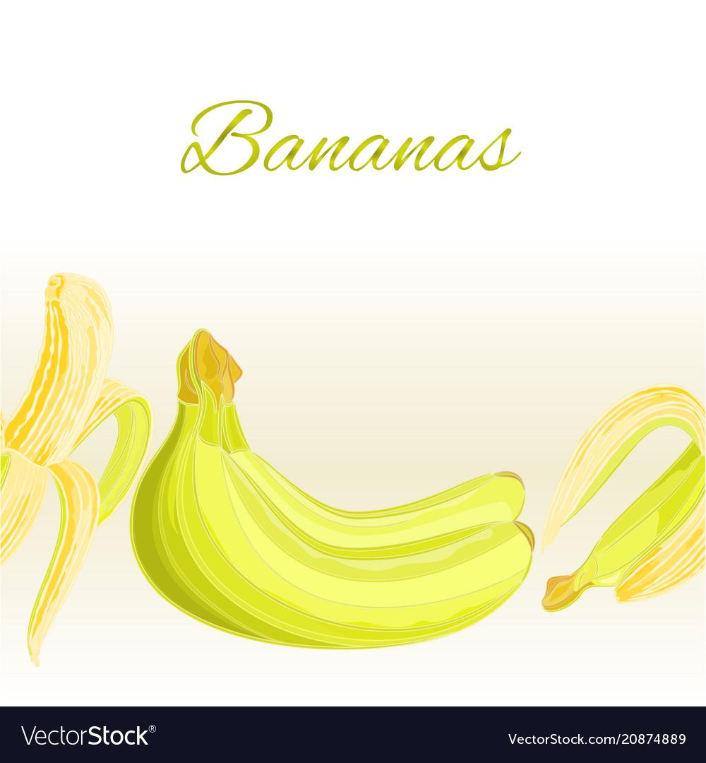 Fruity border seamless background bananas